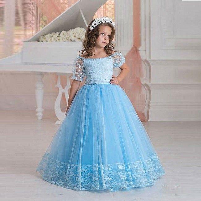 Pin Auf Mädchenkleider  Kommunion  Hochzeit  Elegant