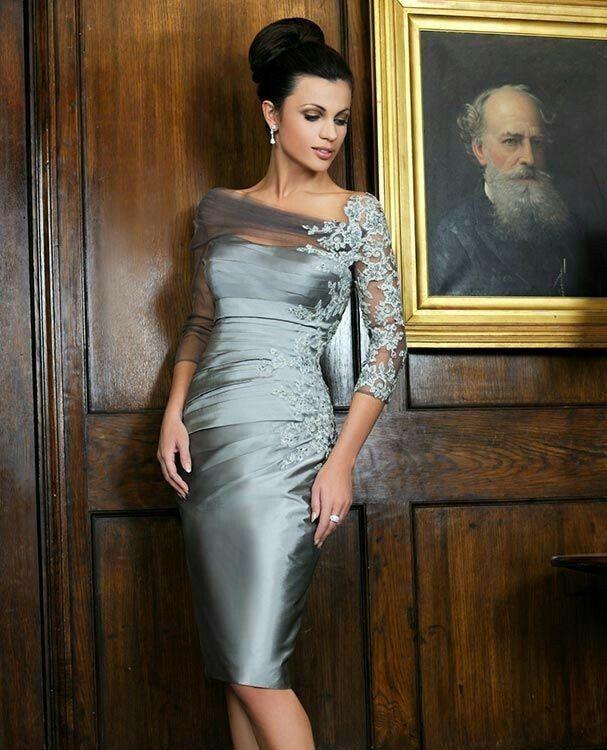 Pin Von Eva W Auf Mode  Brautmutter Abendkleid Und Kleid