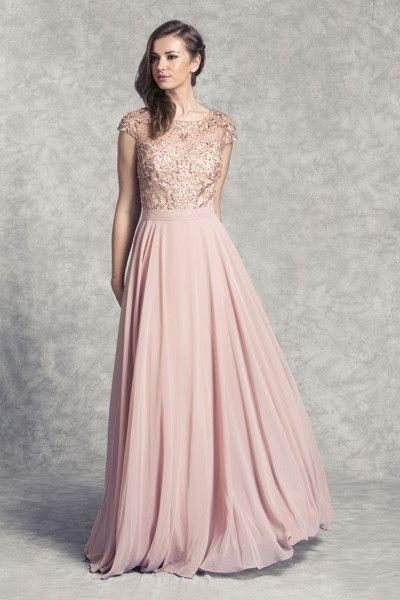 Pin Von Jutta Auf Dresses  Kleid Rose Festliche Kleider