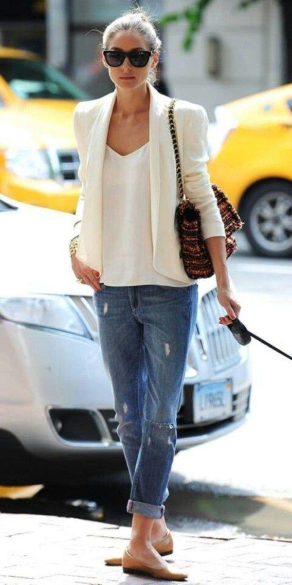 Pin Von Lieda Rowi Auf Mode  Weiße Blazer Outfit