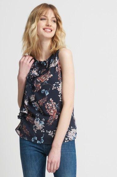 Pin Von Liz Auf Fashion 2017  Bekleidung Volant Bluse Bluse