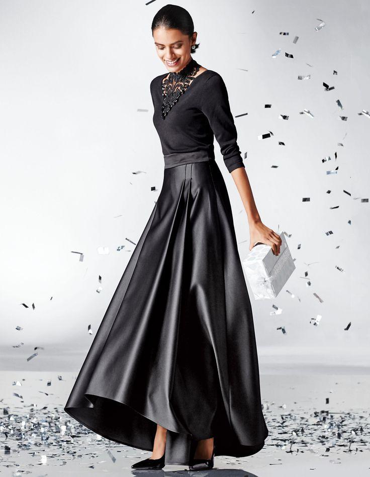 Pin Von Mona Schubert Auf Skirts  Kleid Mit Stehkragen
