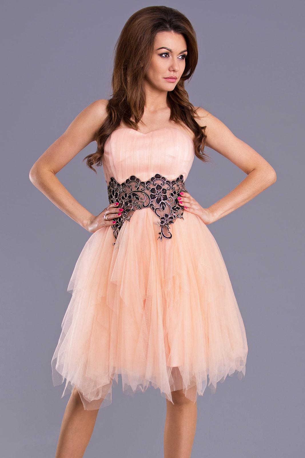 Pink Boom Kleid  Pfirsich 90101