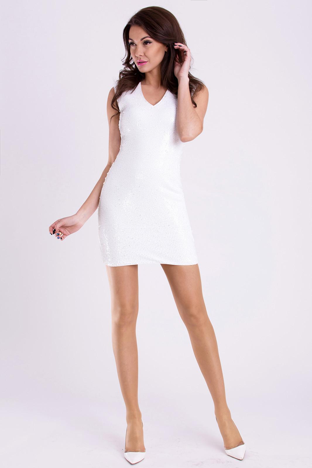 Pink Boom Kleid  White 96032