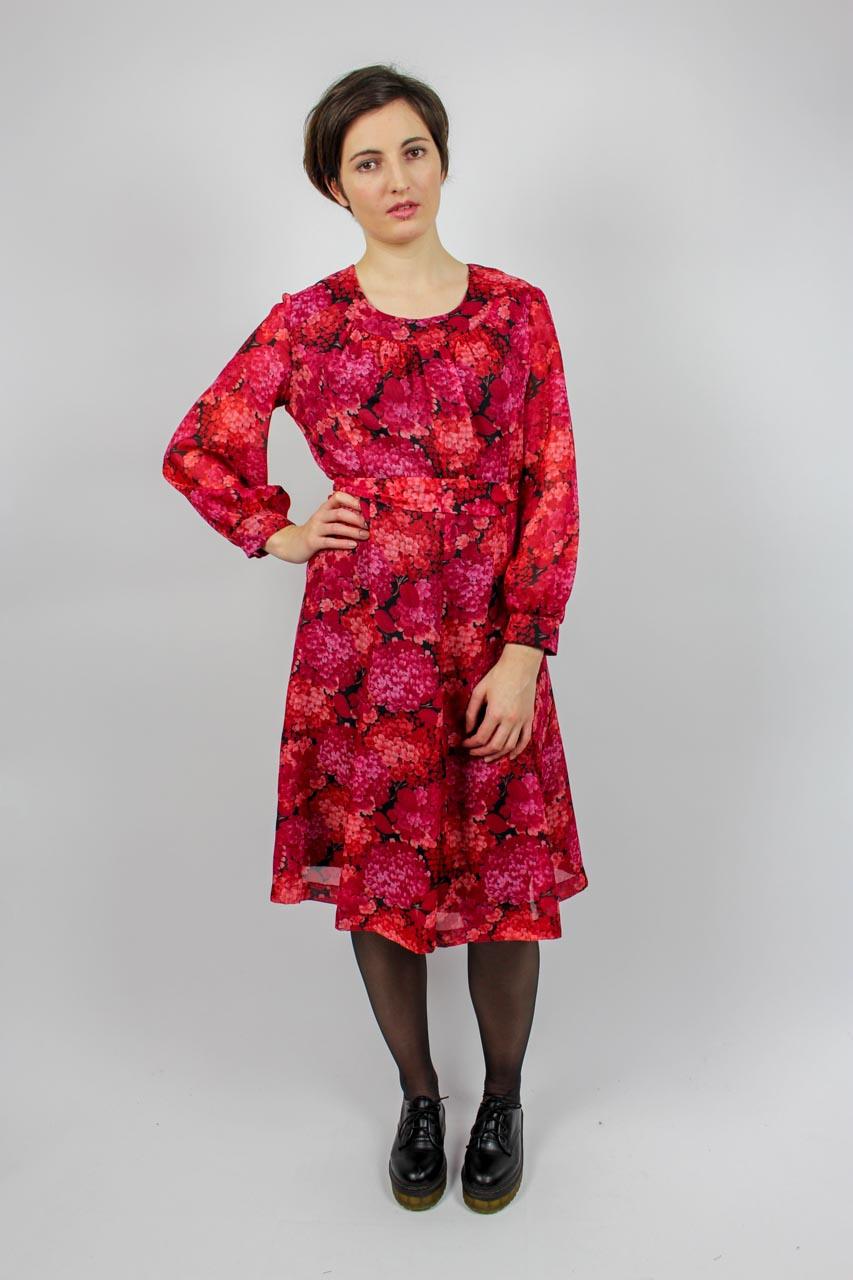"""Pinkes Blumenmuster Kleid """"Kayleen""""  Oma Klara"""