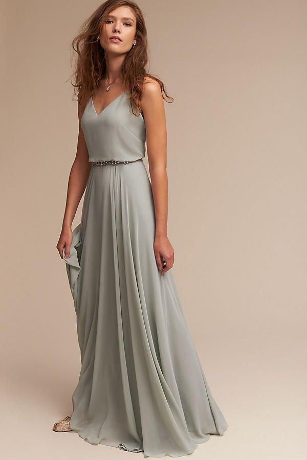 Plain Mint Evening Dress | Kleider Hochzeit, Brautjungfern