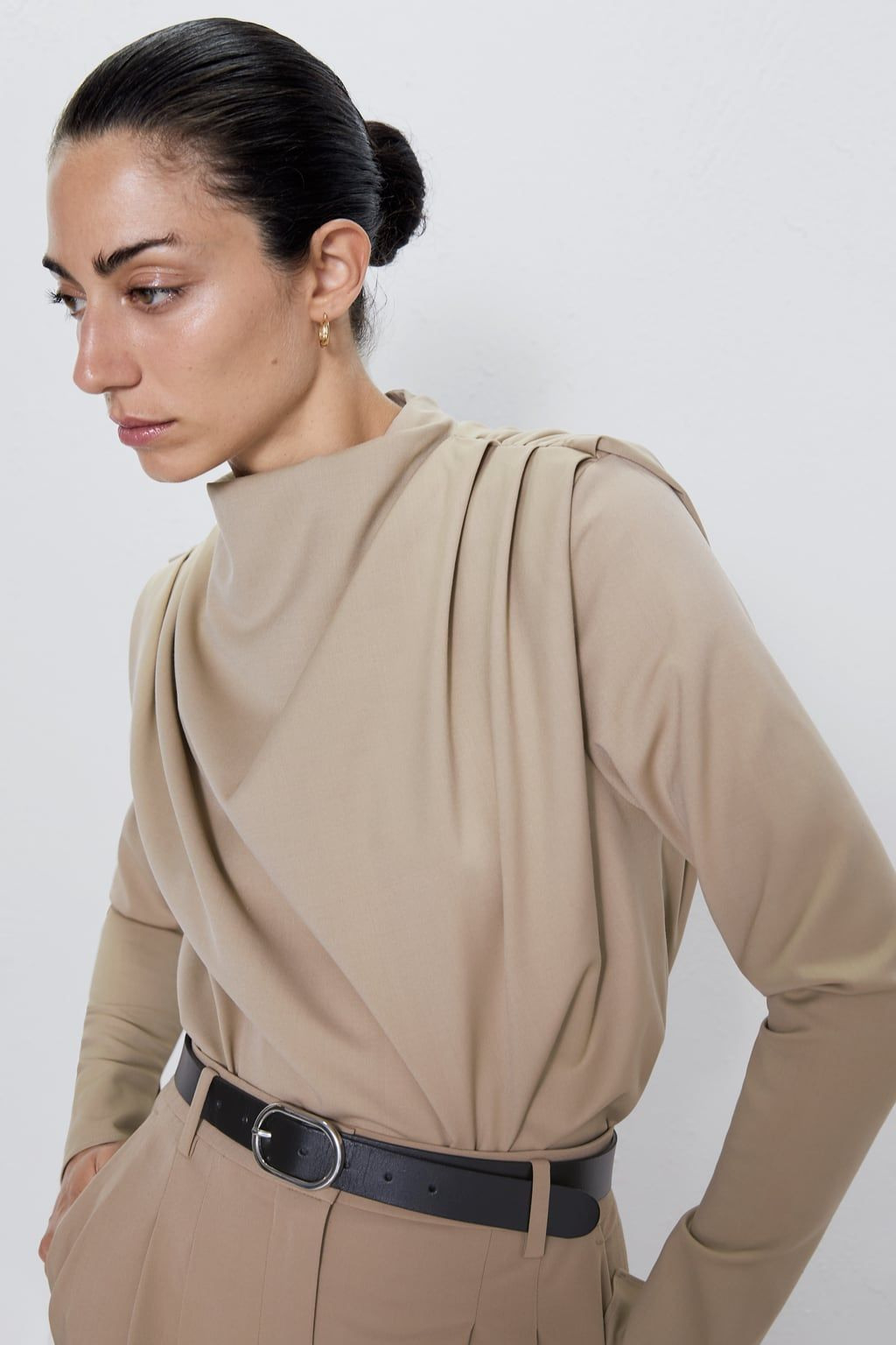 Pleated Top  Hip Clothes Pleated Tops Tops