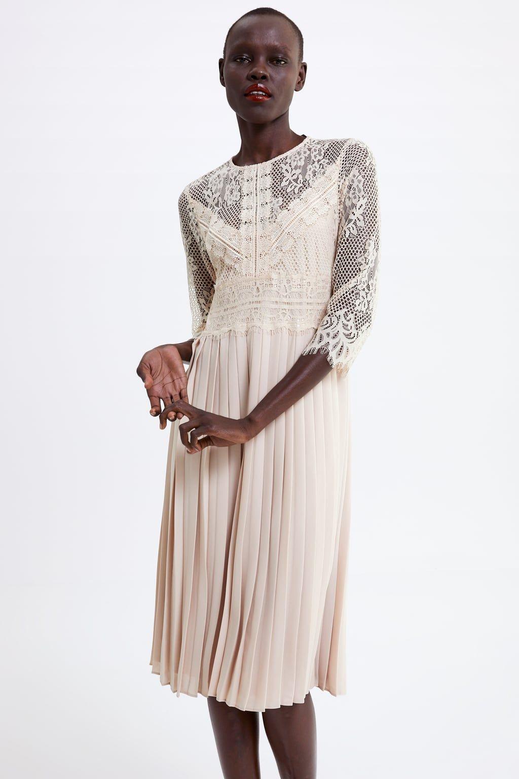 Plissee Kleid Mit Ärmel  Abendkleider  Elegante Ballkleider