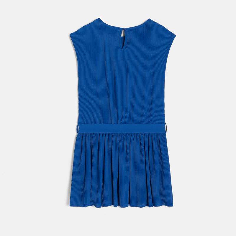 Plissiertes Kleid Blau Mädchen Okaïdi  Obaïbi