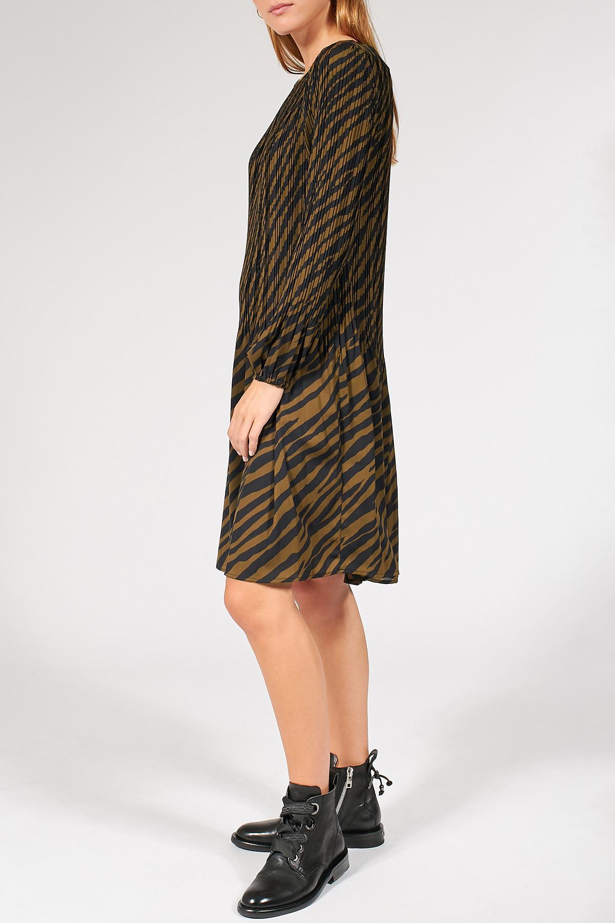 Plissiertes Kleid Mit Zebramuster  Steffen Schraut