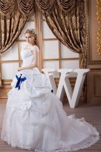 Plissiertes Organza Prinzessin Bodenlanges Brautkleid Mit