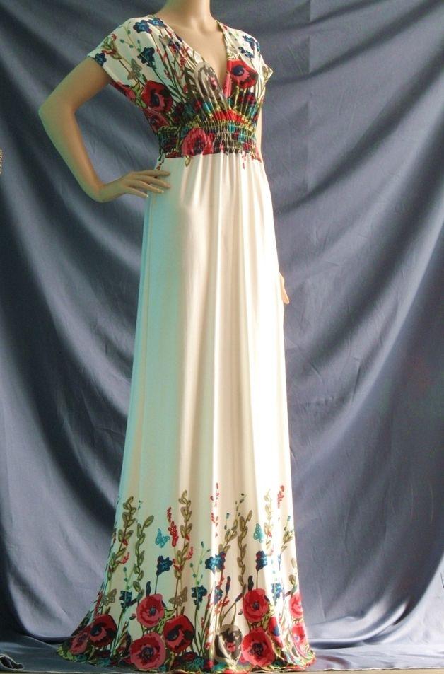 Plus Size Deep V Lange Maxi Dress Prom Kleid  Kleider