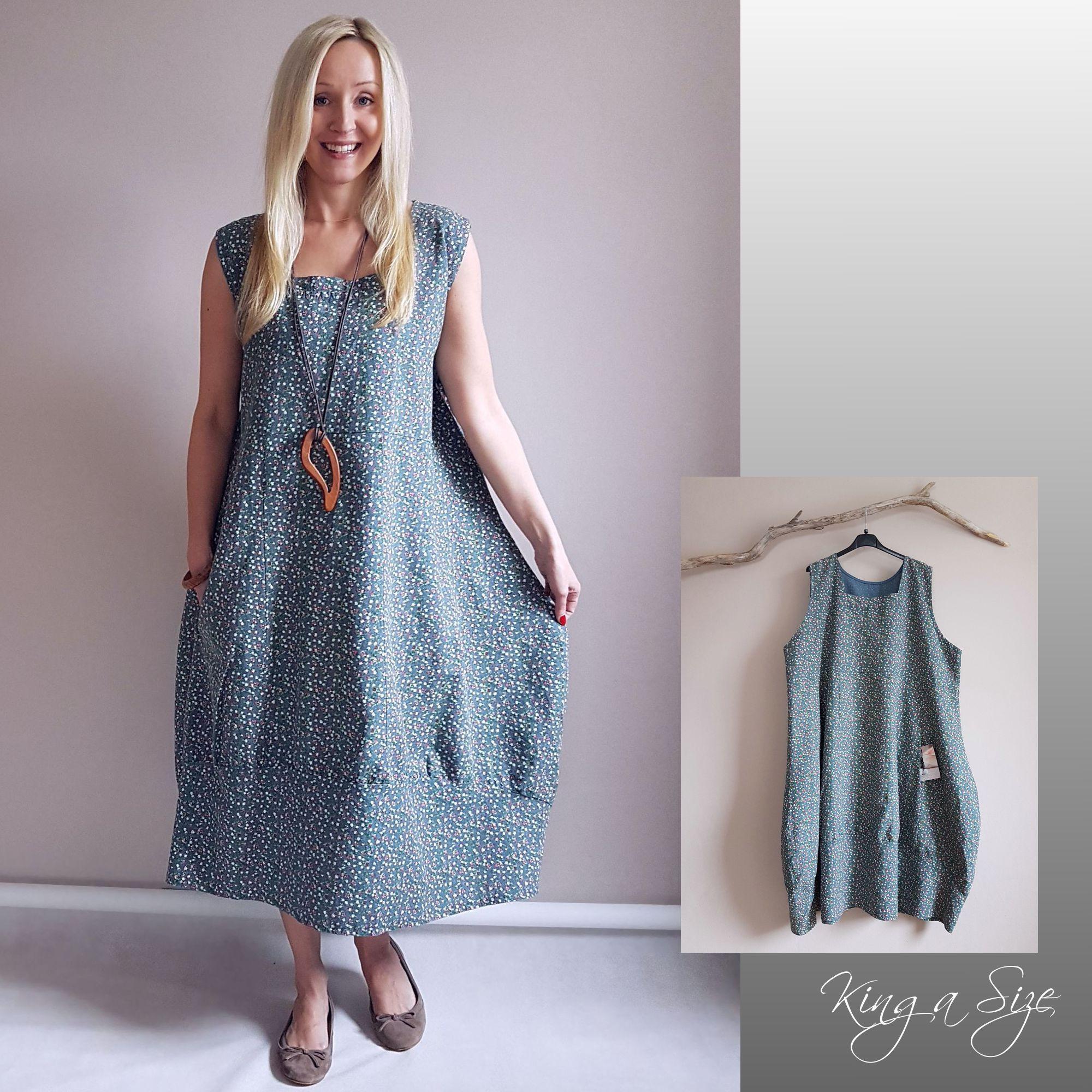 Plus Size Sommerkleid Baumwolle
