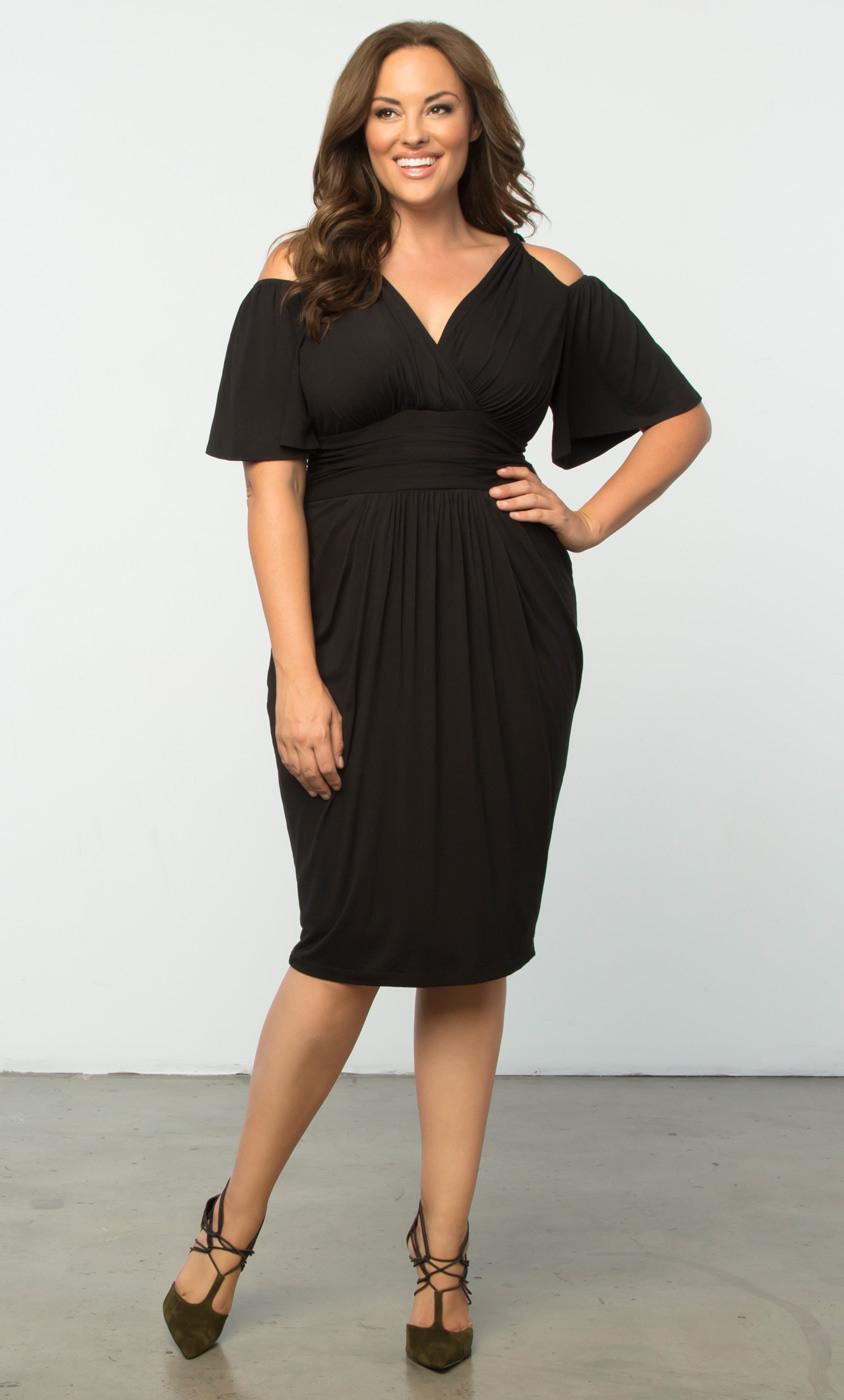 Plus Size Twist Dress  Plus Size Sheath Cocktail Dress