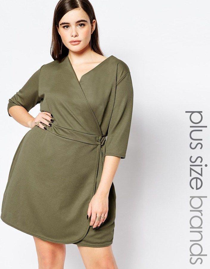 Plus Size Wrap Dress  Plus Size Outfits Fashion Clothes