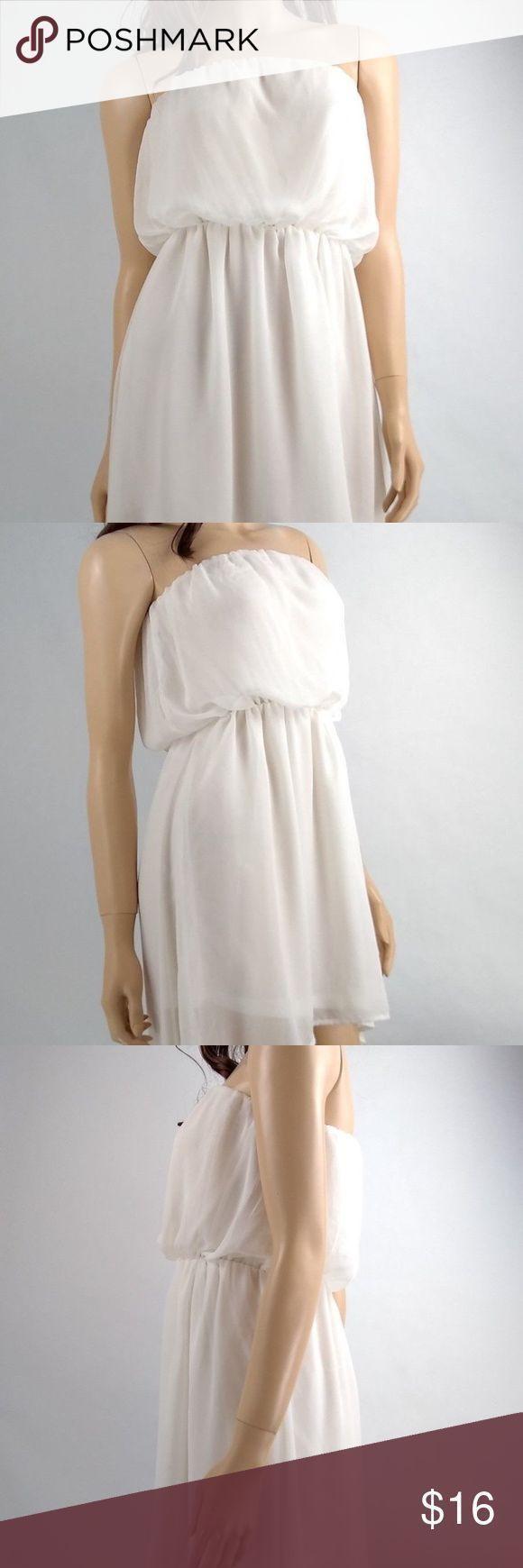 Poetry Ärmelloses Weißes Kurzes Kleid Größe Small Poetry