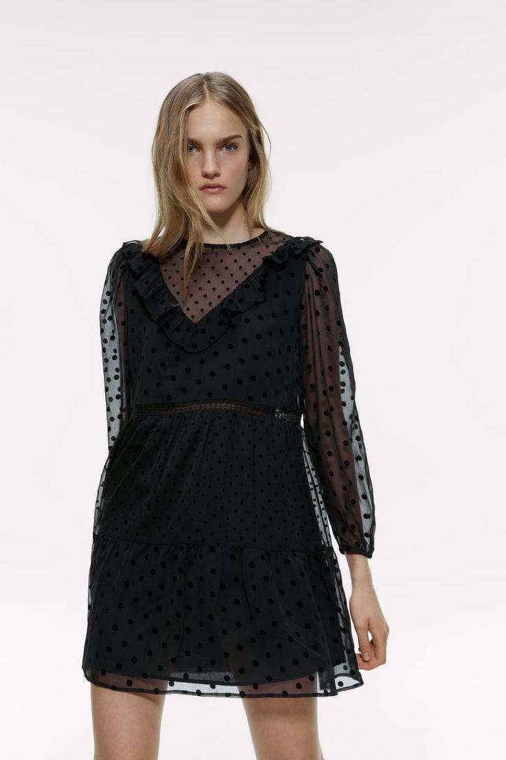 Polka Dot Mini Dress  Zara France In 2020  Minikleid