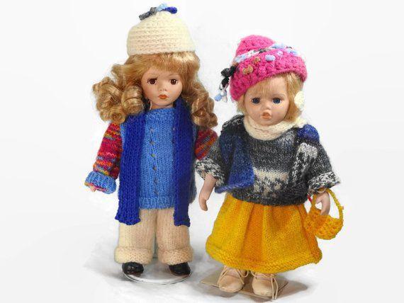 Porzellanpuppenkinder In Winterbekleidung Mädchen  Etsy