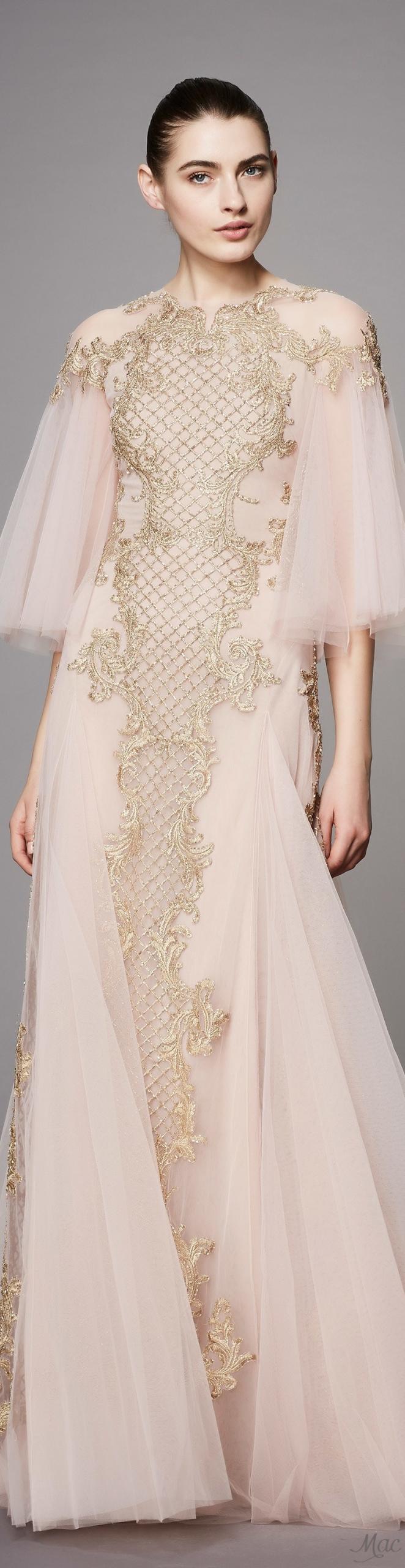 Prefall 2017 Marchesa  Damen Mode Abendkleid Kleider