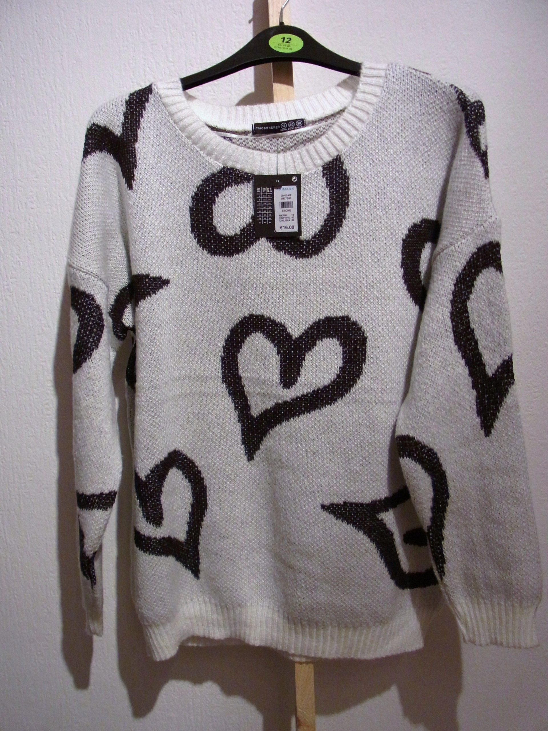 Primark Atmosphere Heart Sweater