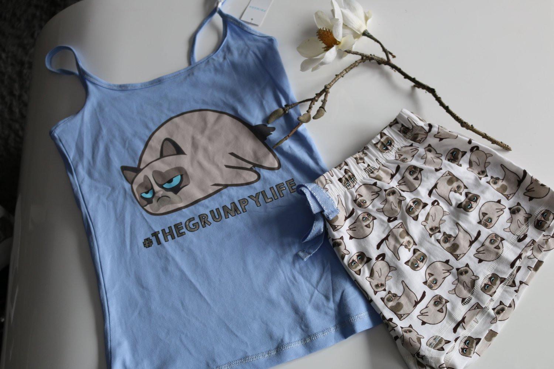 Primark Atmosphere  Neu Primark Grumpy Cat Pyjama