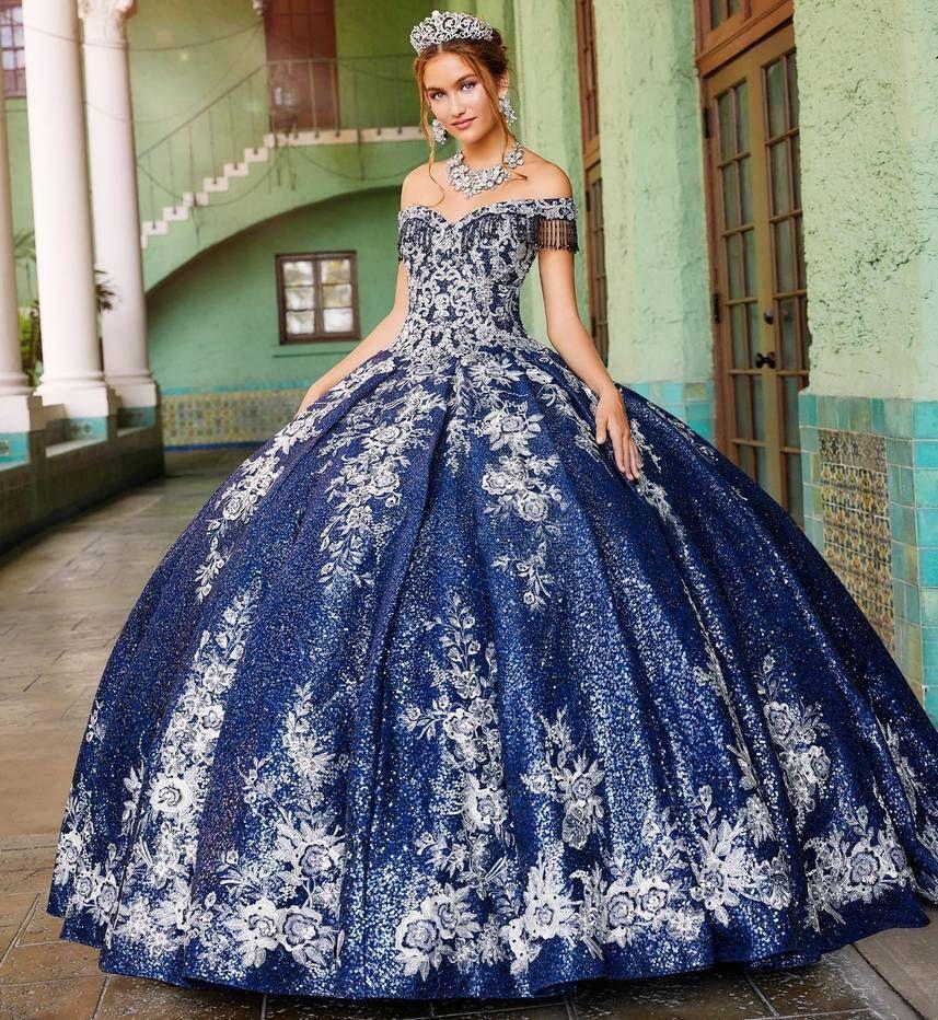 Princess Blue Quinceaera Gownveronarmon In 2020