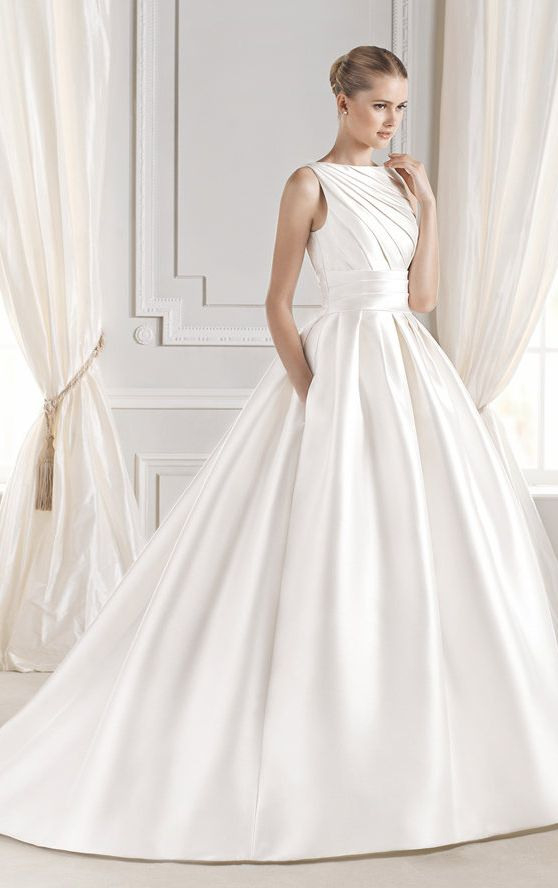 Princess Satin Elegant Wedding Dresses