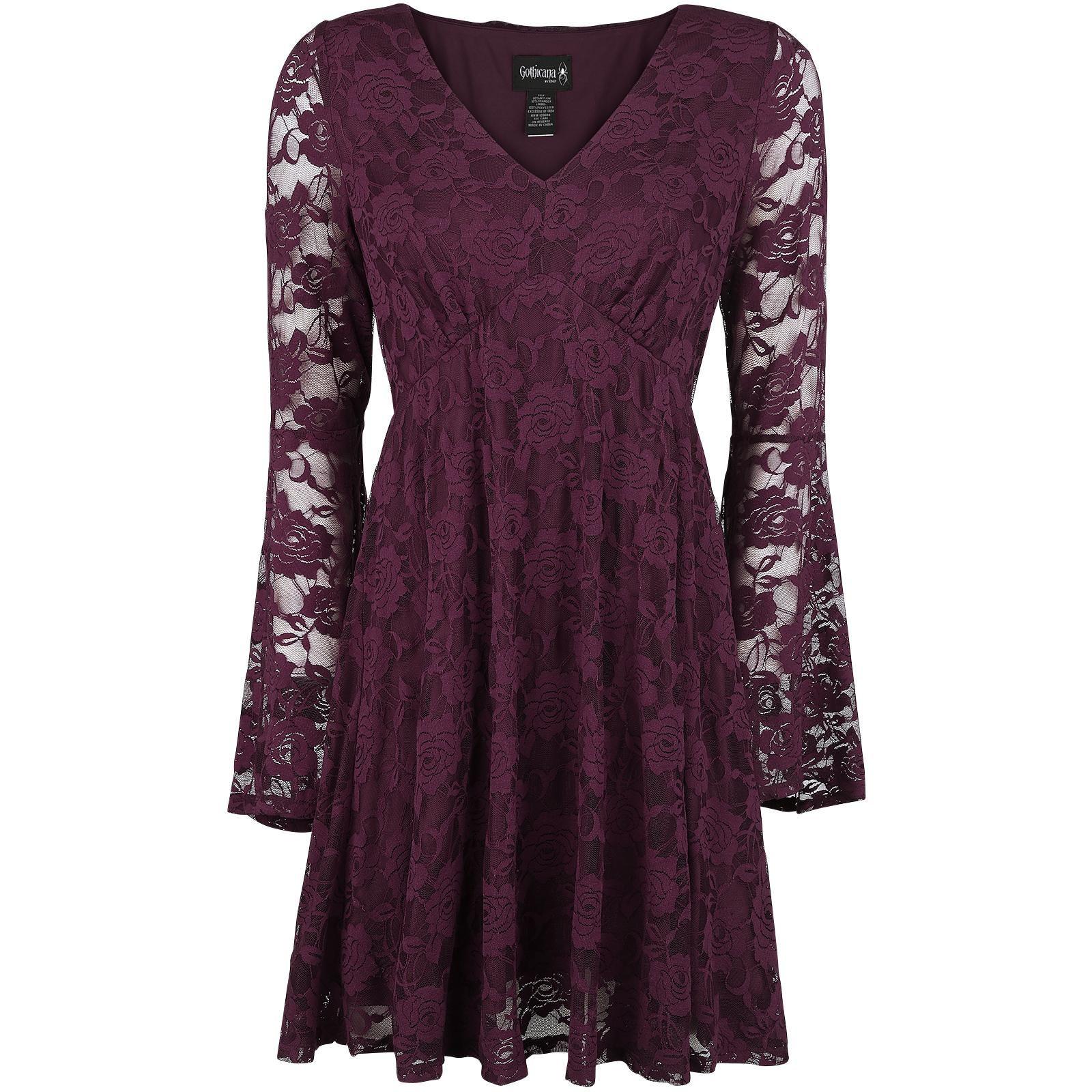 Printed Lace Collar Dress  Mittellanges Kleid Von