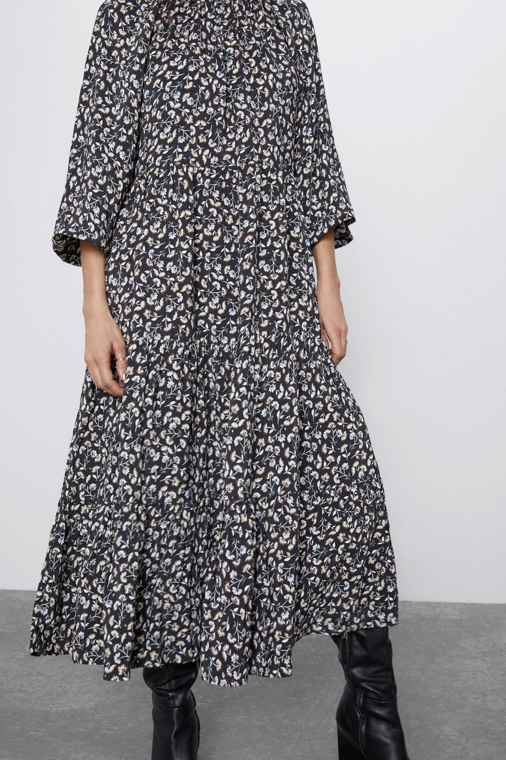 Printed Midi Dress  Mididresseswoman  Zara United