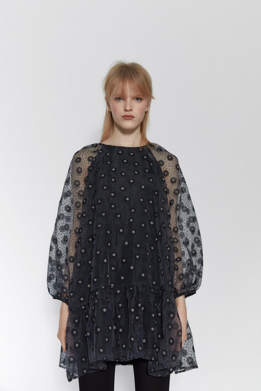 Printed Organza Dress  Zara United States In 2020  Kleider