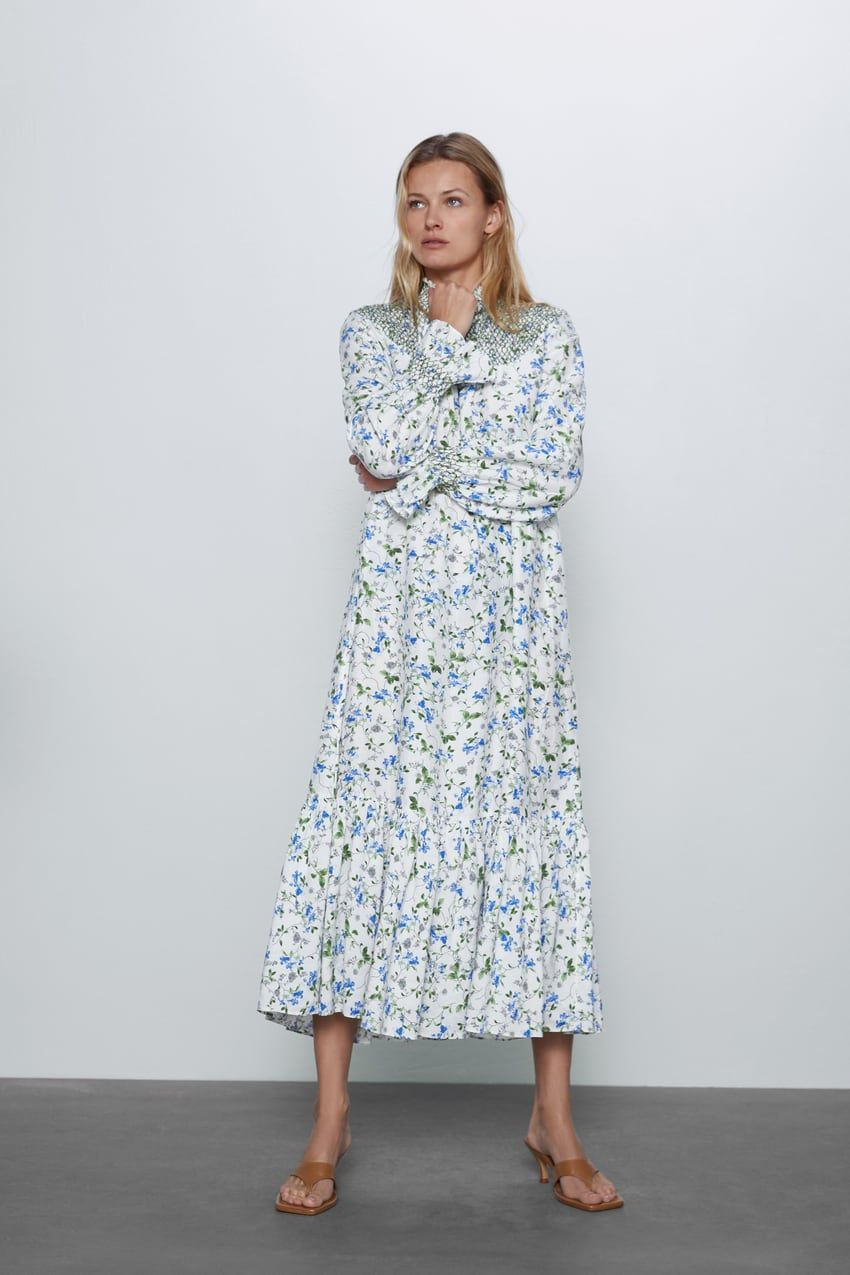Printed Rustic Dress  Zara United States In 2020  Rustic