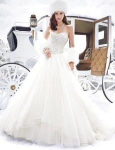 Prinzessin A Linie Winter Hochzeitskleider 2017 Schatz