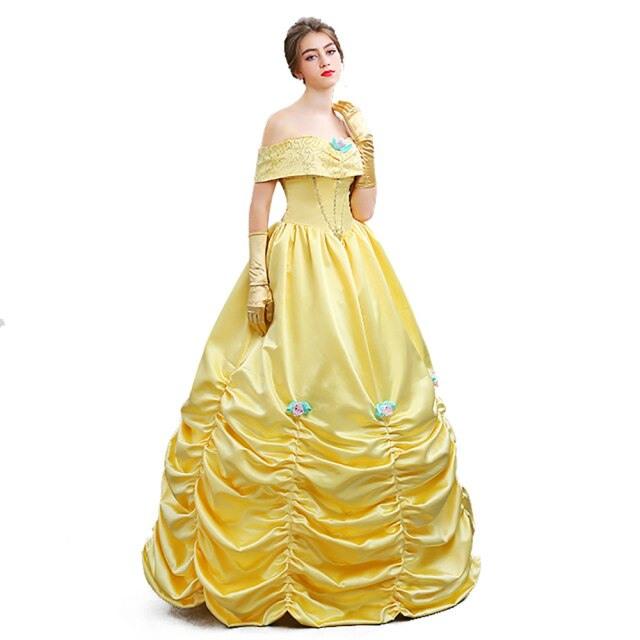 Prinzessin Kleid Damen Gelb  Trendige Kleider Für Die