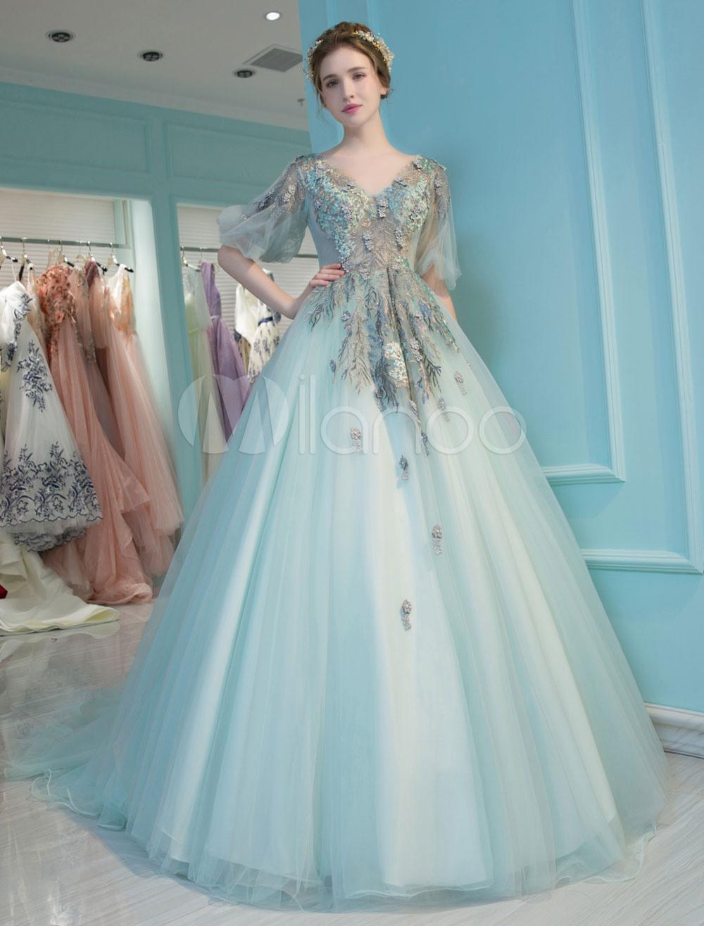 Prinzessin Quinceanera Kleider Luxus Vausschnitt Spitze