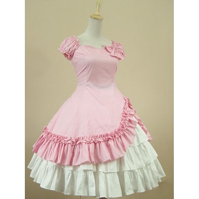 Prinzessin Sweet Lolita Kleid Damen Mädchen Baumwolle