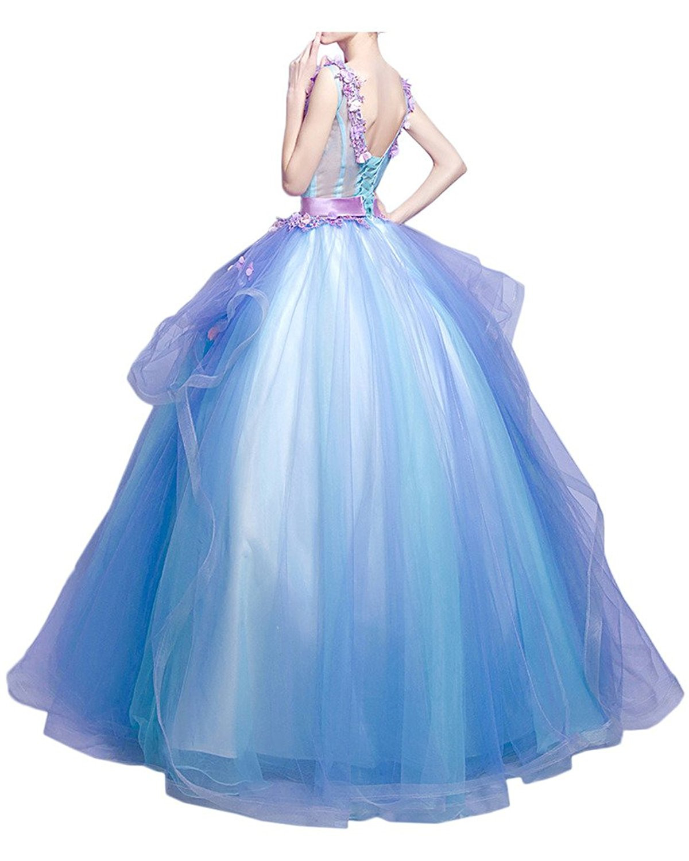 Promgirl House Damen Traumhaft Blumen Prinzessin