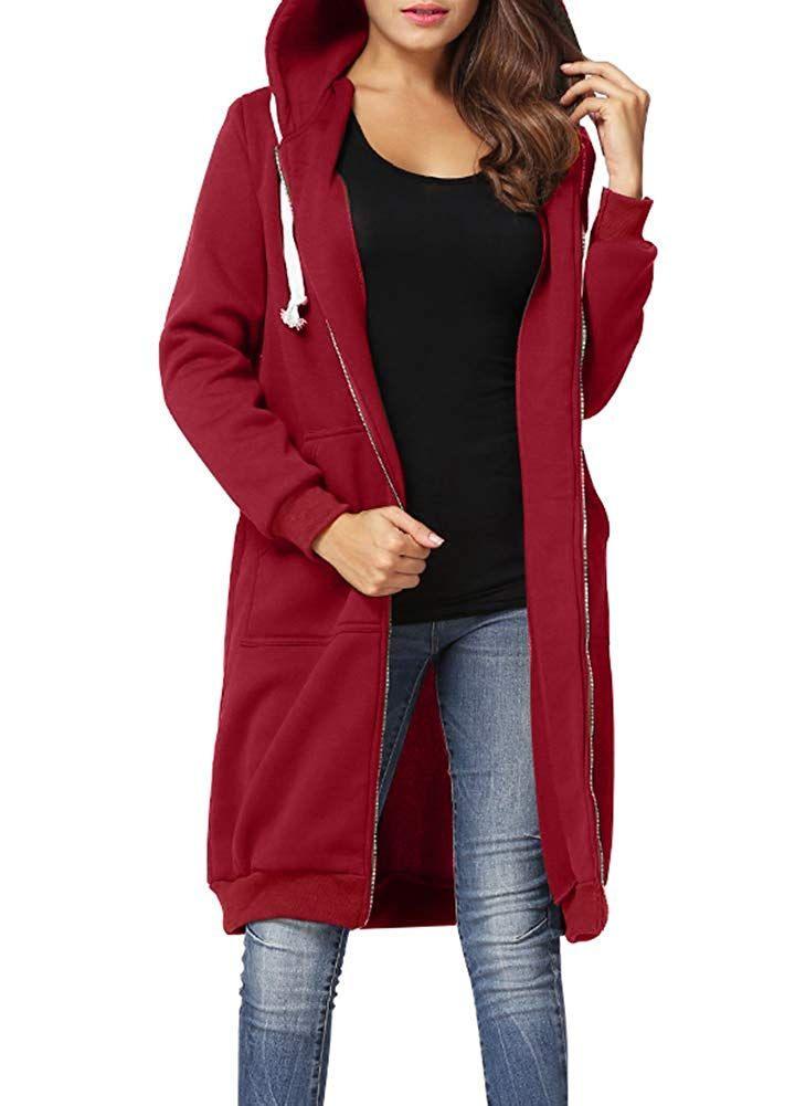 Pullikleid Für Damen In Rot  Tolles Zipper Kleid Mit