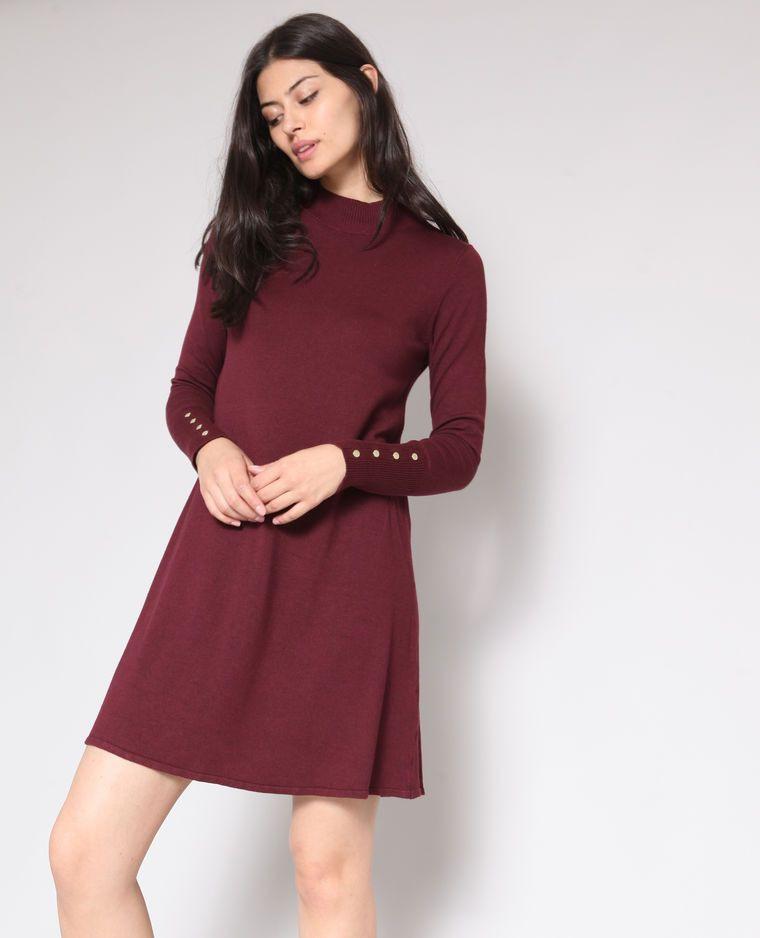 Pulloverkleid Bordeauxrot  Kleider Pullover