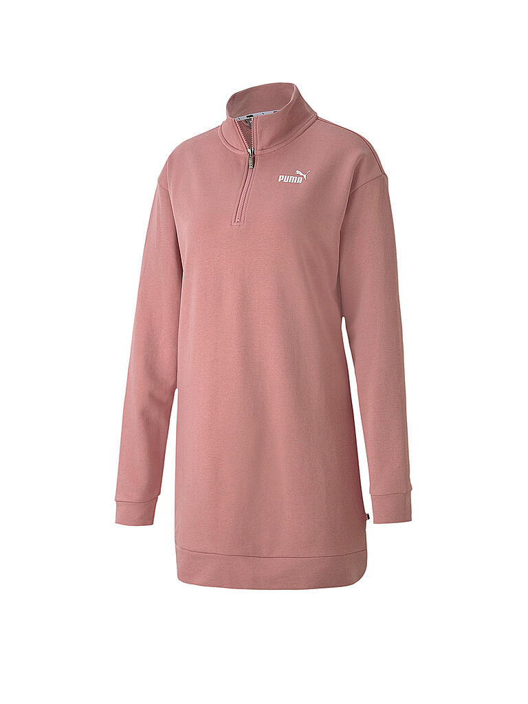 Puma Damen Sweatkleid Essentialshalfzip Rosa  Xs