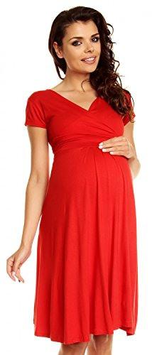 Purpless Maternity Kurzarm Alinie Schwangerschaft Kleid