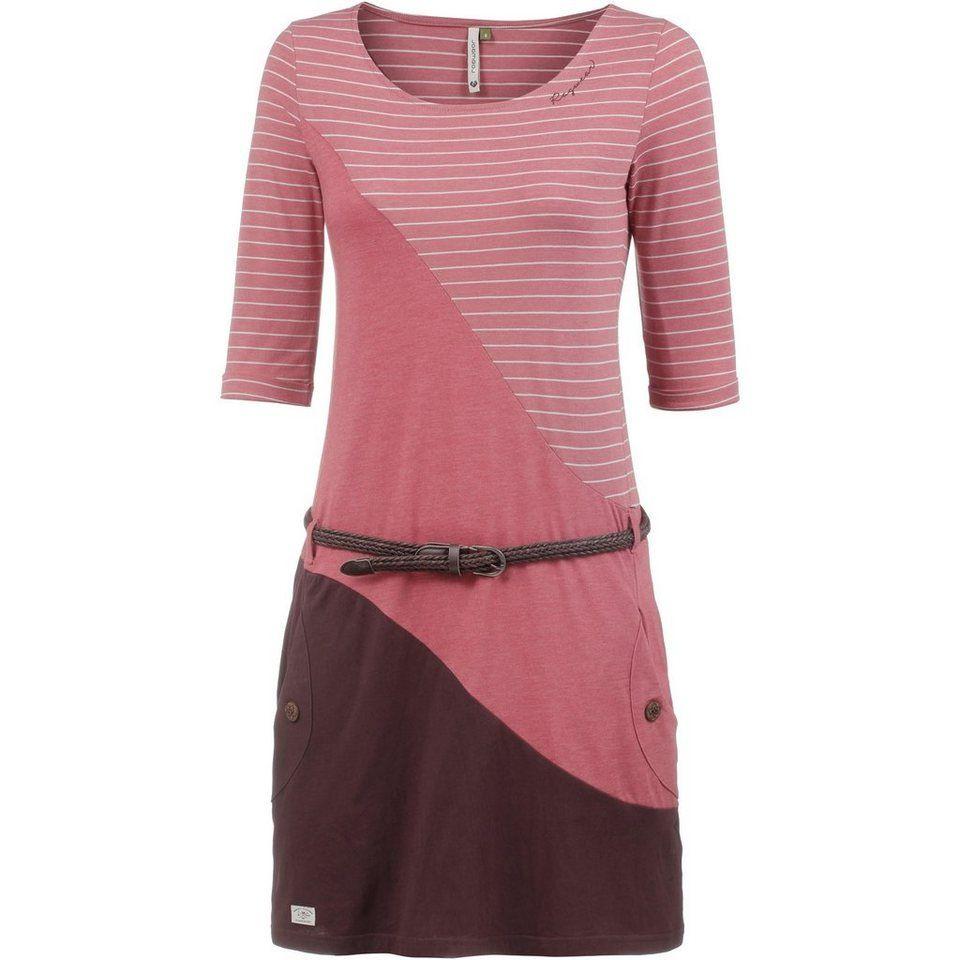 Ragwear Jerseykleid »Tanya Slub« 2Tlg Mit Gürtel In