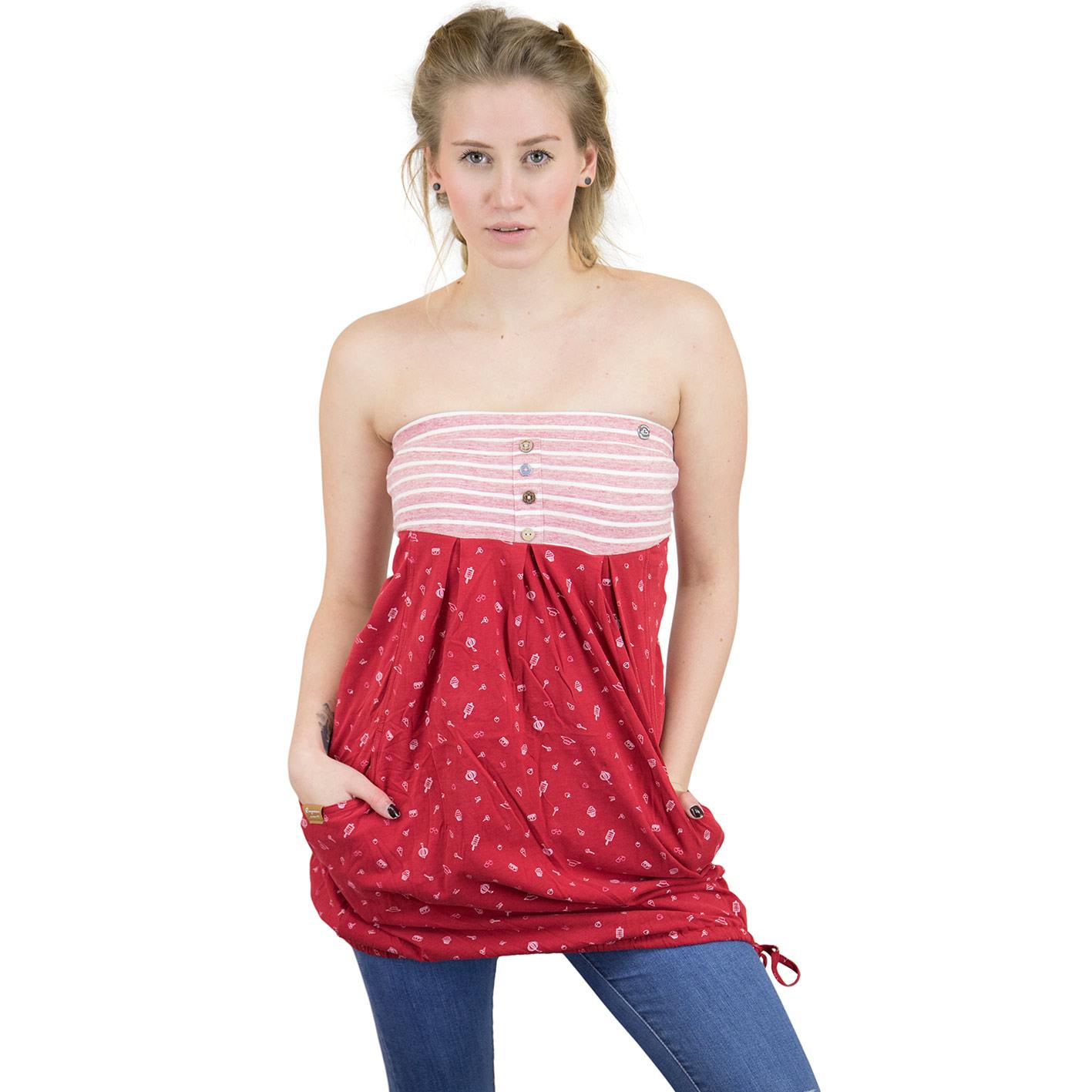Ragwear Kleid Scene Rot  Hier Bestellen