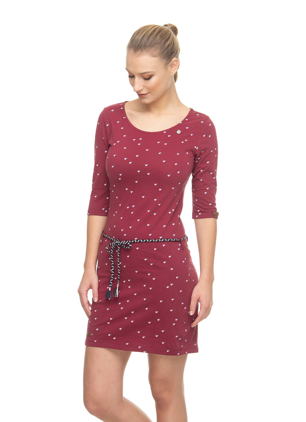 Ragwear Kleid Tamy  Größe M  Farbe Wine Red