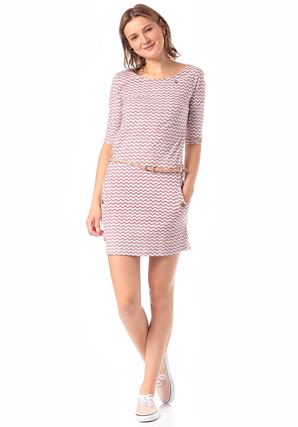 Ragwear Tanya Zig Zag  Kleid Für Damen  Pink  Planet Sports
