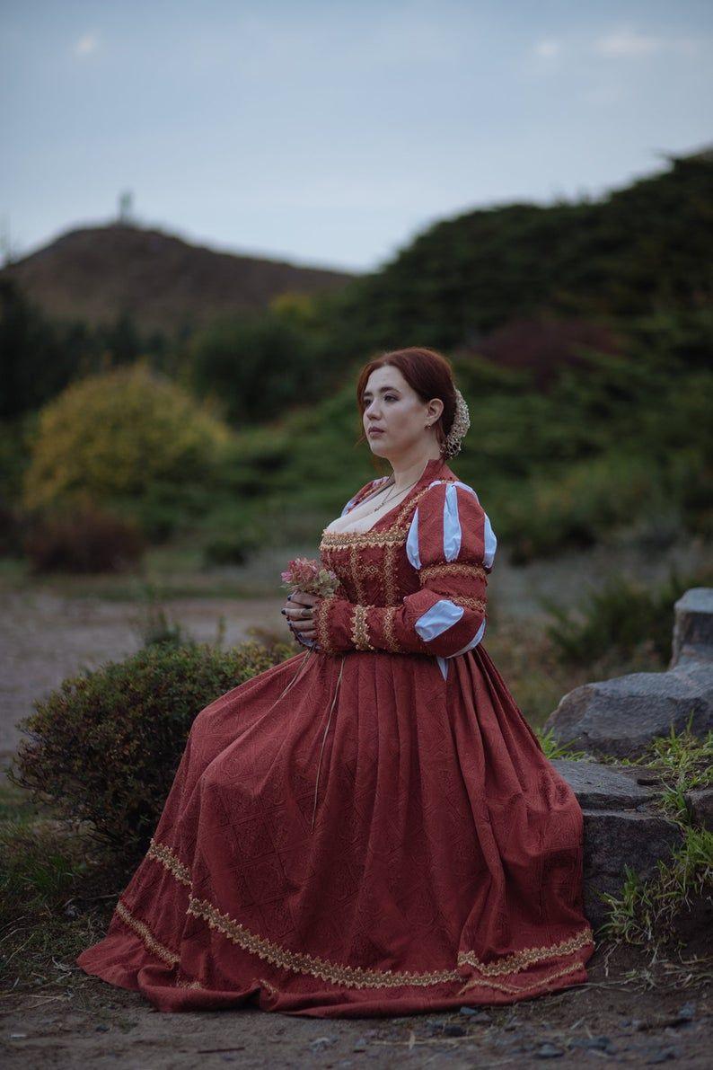 Red Renaissance Dress Italian Renaissance Costume