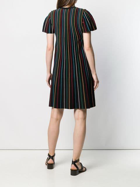 Red Valentino Kleid Mit Kontraststreifen Damen 0No Nero