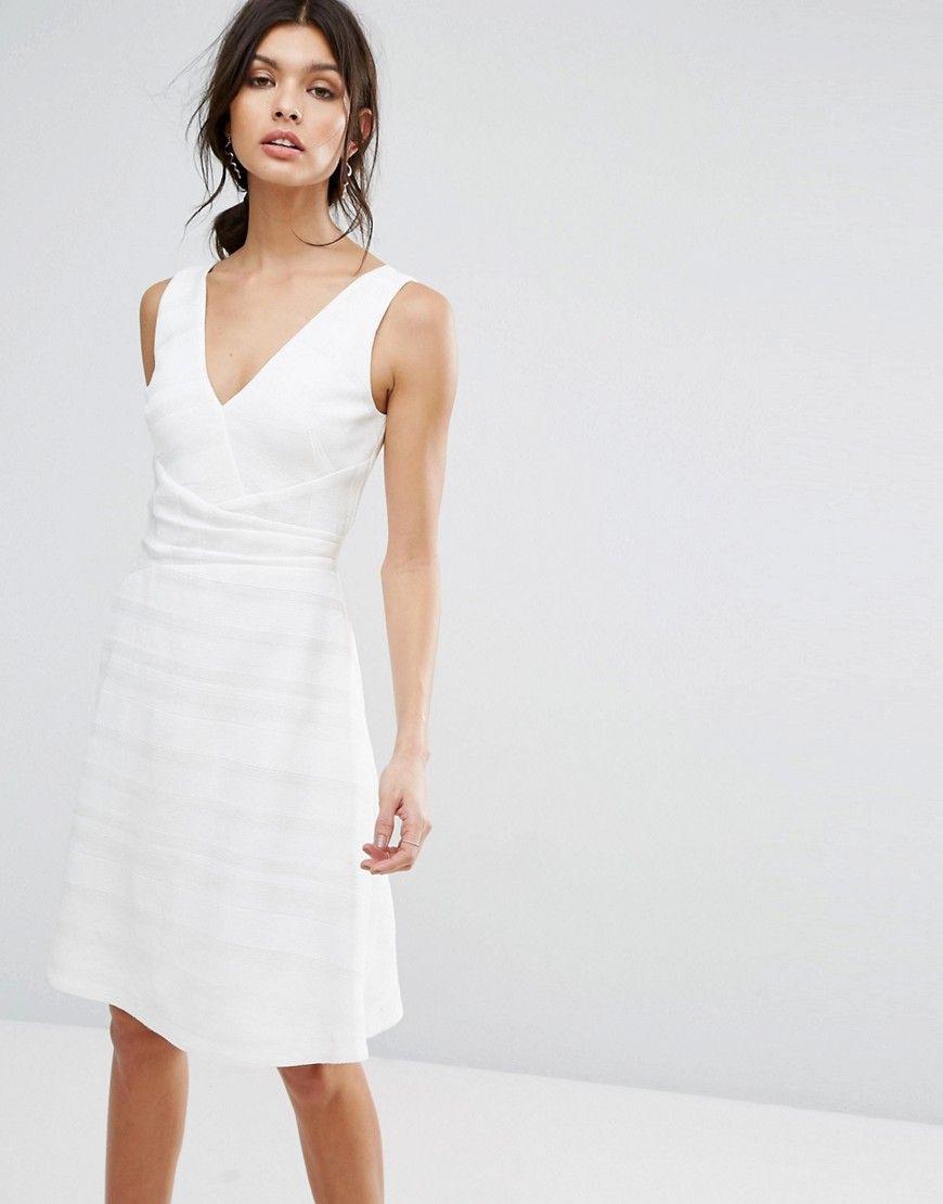 Reiss  Daisy  Tailliertes Kleid Mit Ausgestelltem Rock