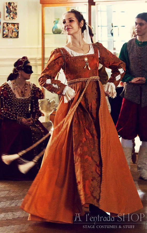Renaissance Kleid 1500 Italienische Mode Ende Des 15