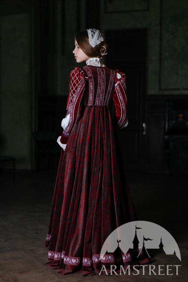 Renaissance Samtkleid Florentiner Mode Kaufen Vorhanden