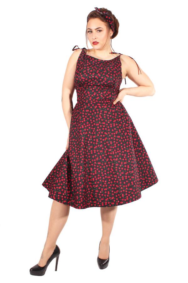 Retro Cherry Petticoatkleid Kirschen Sommer Swing Kleid